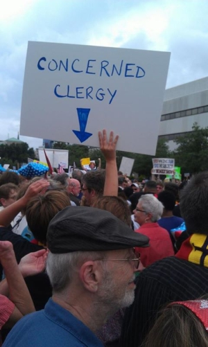 Standing with Clergy from Across the State